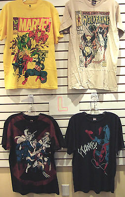 T-Shirt Lot Of 4 New Mens Large Marvel Avengers Wolverine Spider-Man Hulk X-Men