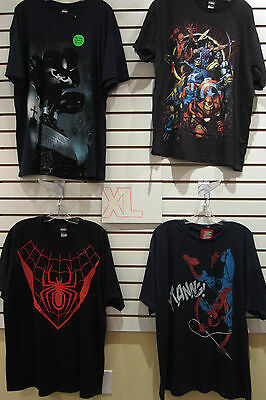 T-Shirt Lot Of 4 New Mens Extra-Large Xl Marvel Black Spider-Man Avengers