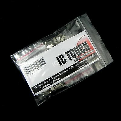 10value 50pcs Crystal Oscillator HC-49S Assortment Kit