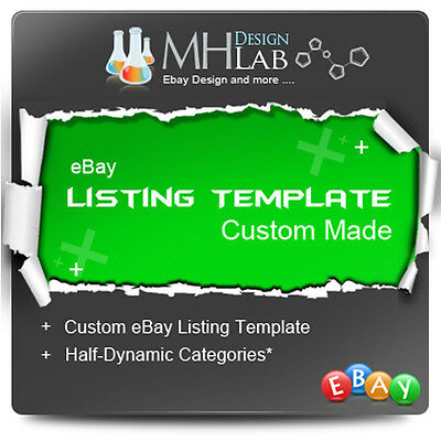 Professional Custom ebay Listing Template Design for eBay Shop eBay Store