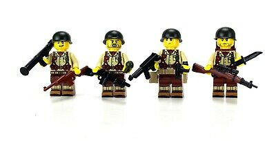 Tan WW2 Squad US Army Minifigure Soldiers (SKU58) made with real LEGO® minifigs