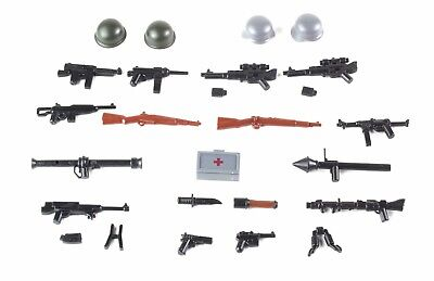 German and US weapons pack WW2 Army(P1) compatible with toy brick minifigures