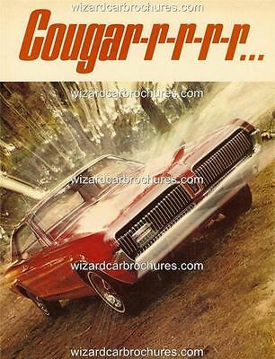 1967 Ford Mercury Cougar A3 Poster Ad Sales Brochure Mint Advertisement Advert