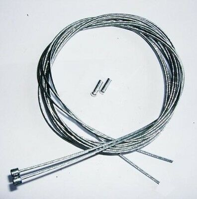 2 X Inner Gear Cables + Ends, Road, Mtb, Shimano Etc.