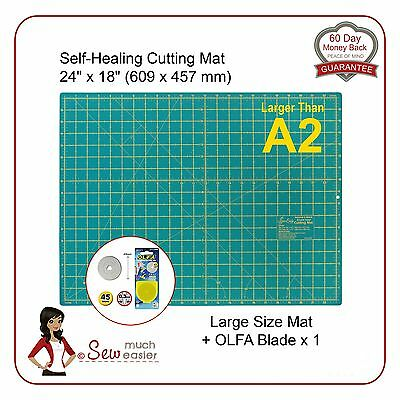 Self-Healing Cutting Mat   A2 and OLFA 45mm Blade for rotary cutter spare blades