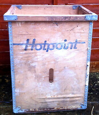Vintage Wooden Large Hotpoint Crate Retro