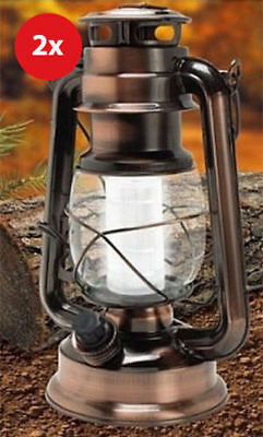 2x Portable Camping Camp Vintage Lantern Light Lamp torch Outdoor 12 LED