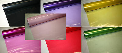 5m x 80cm tinted / solid colour cellophane CHOOSE COLOUR gift wrapping packaging
