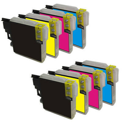 8 Tintas Non Oem Para Brother Dcp-J315W Lc985Bk 30Ml Lc985C Lc985M Lc985Y 20Ml