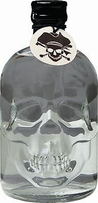 (1L/35,80€) SeaWolf Captains Spirit Wodka Totenkopf-Flasche 37,5% Vol. 0,5 Liter