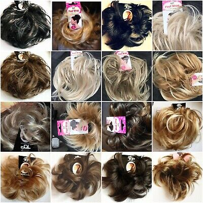 Small Hair Scrunchie Wrap Wavy Feathered Spiky Messy Bun Updo Hairpiece
