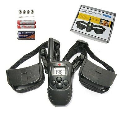 300M Remote Pet Dog Training Collar Bark stop Collar For 1 or 2 Dogs LCD Display