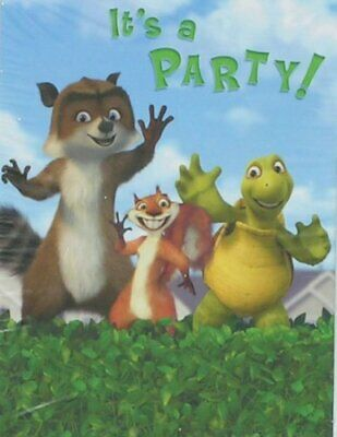 RARE Over the Hedge DreamWorks Cartoon Animals Birthday Party Luncheon Napkins