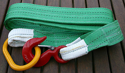 NEW PRO RECOVERY 4x4 COMPETITION TREE STROP WINCH TOW STRAP 2M HOOK & MASTERLINK