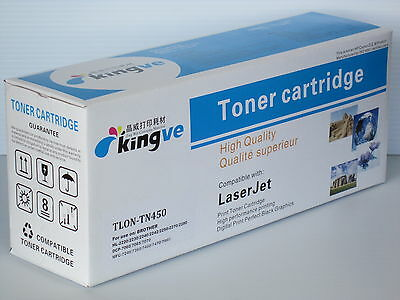 1PK black Toner for TN-450 TN450 fits Brother DCP-7060D DCP-7065DN HL-2220