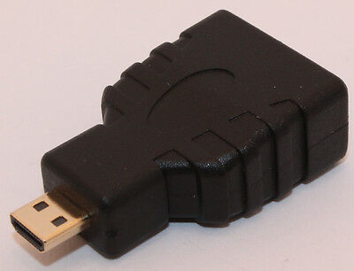 HDMI Female (A) to Micro HDMI (D) Male Adapter, Brand New! 720/1080p