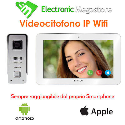 Videocitofono Ip Wi Fi Hd Ir + Monitor Tablet App Ios Android Ip65 Vandal Proof