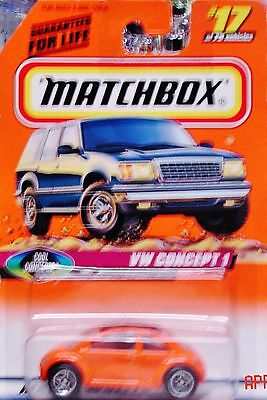 1997 Matchbox VW Concept 1 Orange Ships World Wide Combine Shipping