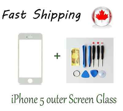 White Front Replacement Screen Glass Lens for iPhone 5 5c 5s Free Opening Tools