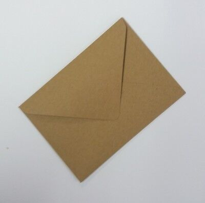 "5"" x 7"" Brown Recycled Fleck Kraft Envelopes (133 x 184mm) 110gsm FREE P&P"