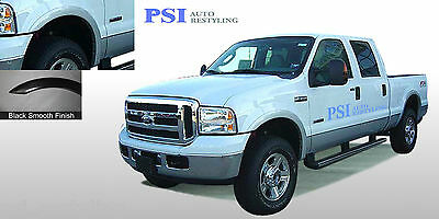 BLACK PAINTABLE Rugged Style Fender Flares 99 - 07 Ford F-250, F-350 Super Duty