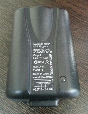 USB Power Supply ~ Suitable for Australian, US, UK and European mains sockets