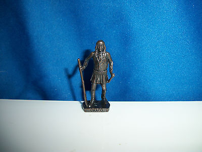 CHATO APACHE Warrior DARK BRONZE Figurine AMERICAN INDIAN Kinder Metal Soldier