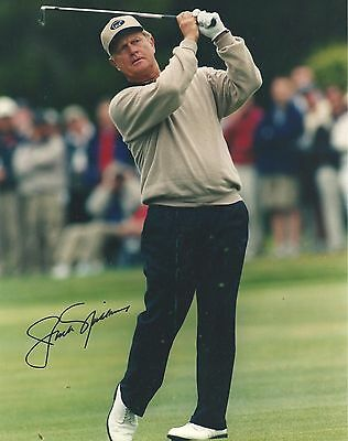 Signed Preprint JACK NICKLAUS Autographed GOLF Photo