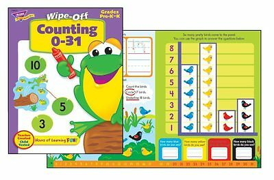 Counting 0-31 Wipe Off Reusable Educational Activity Book