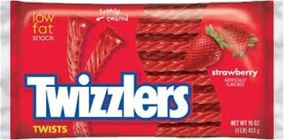 Twizzlers Strawberry Licorice 16 oz Bag