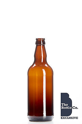 48x 500ml Round Glass Cider Beer Clear Bottles by KegThat
