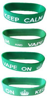 KEEP CALM and VAPE ON Bracelet - Unisex and Unique - START YOUR COLLECTION TODAY