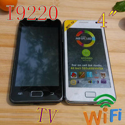 2013 HOT 9220 TV WiFi 4.0 Touch Screen mobile Cell Phone Unlocked Dual SIM