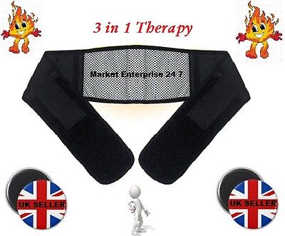 New Magnetic 3 In 1 Waist Support Belt With Heat For Lower Back Pain Relief
