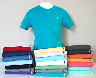 NEW! POLO Ralph Lauren Mens V-NECK T-SHIRT SS S M L XL XXL NWT Designer