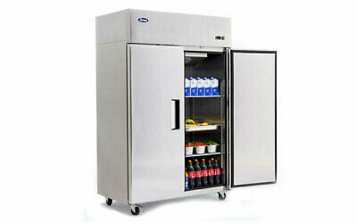 Refrigerator Double Door Upright Gastronorm Commercial Catering Fridge