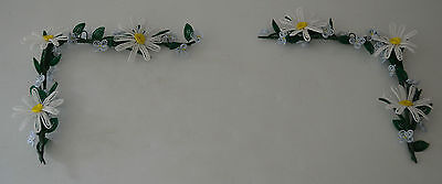 handmade French beaded Flowers home decor white daisy corner pieces