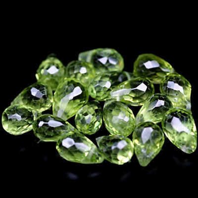 19.49 CT PERIDOT NATUREL  LOT 18 PCS  VS/SI  pierres précieuses fines gems 13766
