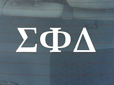 Sigma Phi Delta Window Decal - White