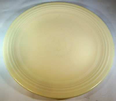"VINTAGE HOMER LAUGHLIN FIESTA IVORY 9-1/2"" DIAMETER DINNER PLATE!"