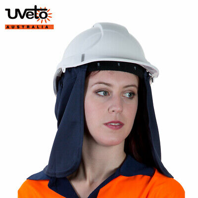 Uveto Attach A Flap Work Safety UV Sun Protection Hard Hat | AUTHORISED DEALER