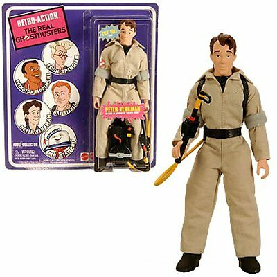 Ghostbusters Peter Venkman SDCC Exclusive Retro Doll Real Action Figur Mattel