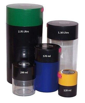 Tightvac Vacuum Stash Spice Food Herb Container - Smell Proof - Choose Size
