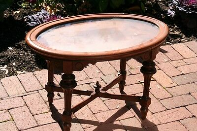 Petite antique table with removable top