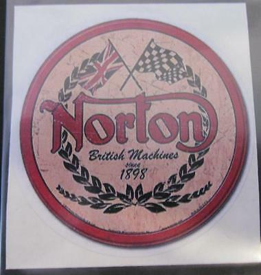"Norton ""British Machines Since 1898"" Vintage Sticker 3 inch"