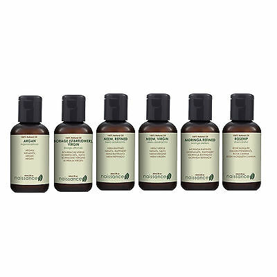 100% Pure Carrier / Vegetable Oils by Naissance - Size 60ml