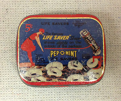 Life Saver Pep-O-Mint 5 Cent Tin