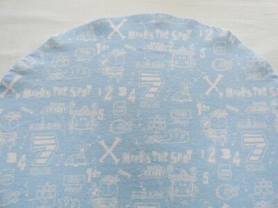 Bassinet Sheet/ Flannel / X Marks The Spot, Ships And Numbers