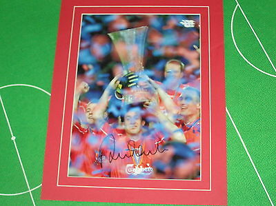 Liverpool Robbie Fowler Signed & Mounted 2001 UEFA Cup Final Press Quality Photo