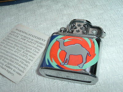 VINTAGE SMALL CAMEL ADVERTISING CIGARETTE LIGHTER NEVER USED, NEW IN BOX